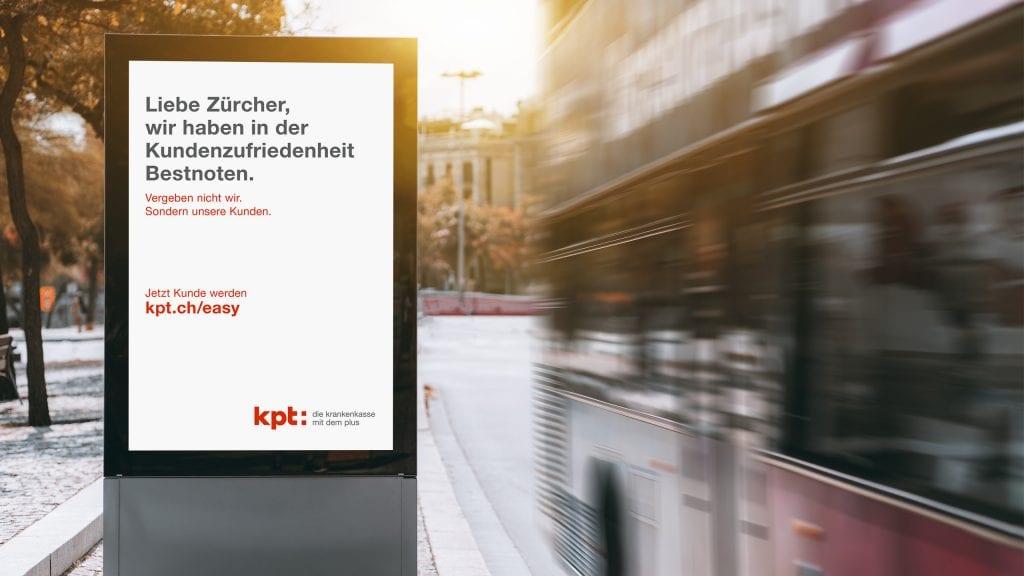 Plakat zur Imagekampagne Kantönligeist der KPT