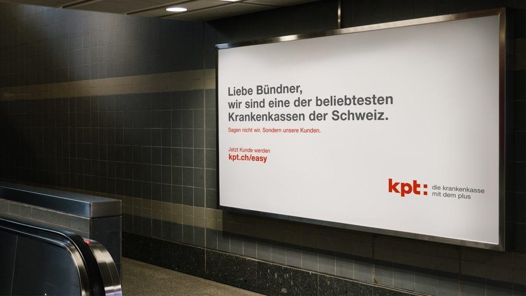 Plakatkampagne für die KPT